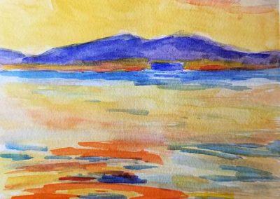 painting by Mari Tajii